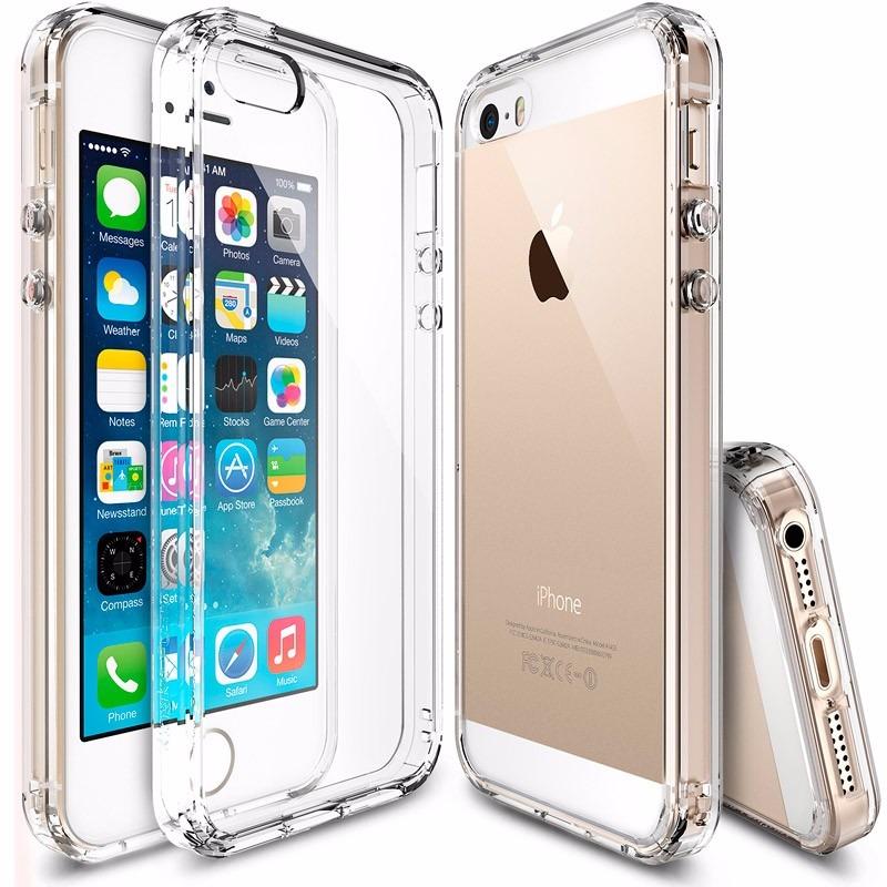 Funda transparente anti-impactos para iPhone SE / 5 / 5S (colores