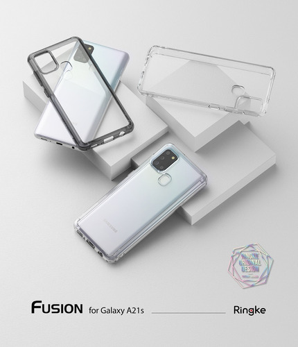 funda samsung a21s ringke fusion anti impacto original #