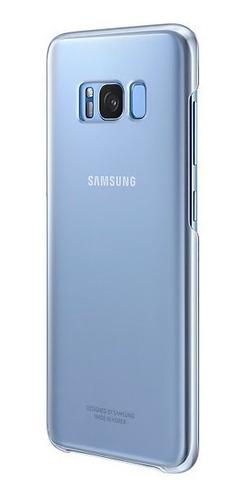 funda samsung clear cover galaxy s8+ blue  ef-qg955