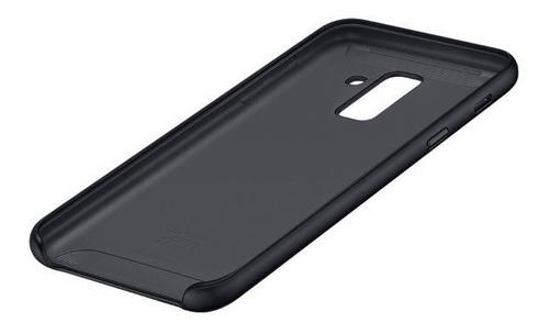 funda samsung dual layer cover a6 plus black