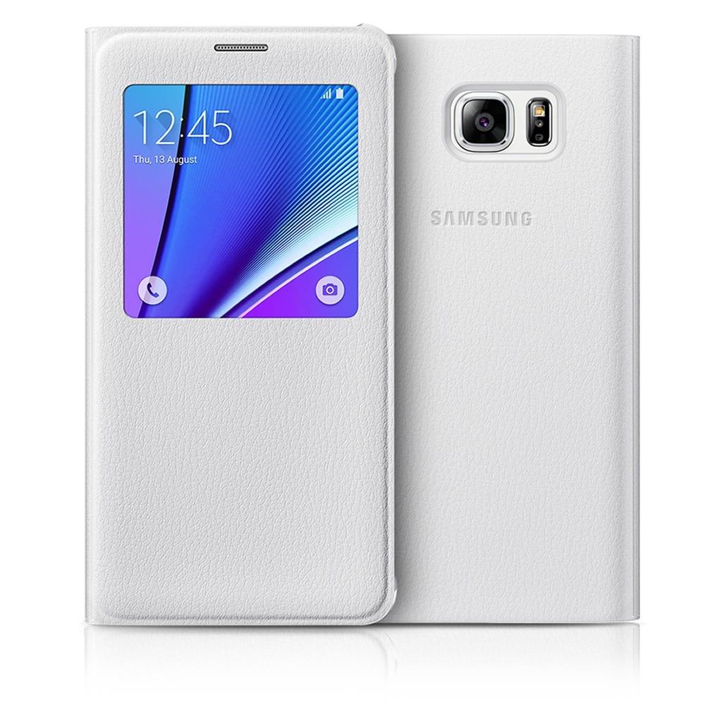 detailed look 7a3b3 4cad0 Funda Samsung Galaxy Note 5 S View Flip Cover Original Msi