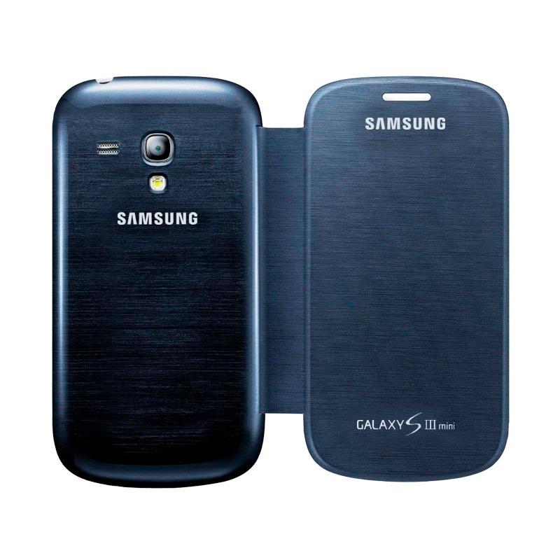 91c2f7f8391 funda samsung galaxy s3 mini i8190 flip cover azul original. Cargando zoom.