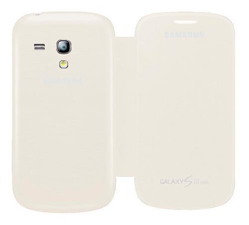 funda samsung galaxy s3 mini i8190 flip cover blanco origina