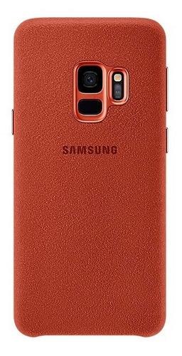 funda samsung galaxy s9 alcantara cover red