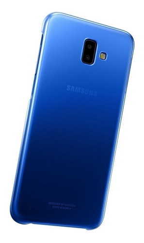 funda samsung gradation cover j6+ protective blue