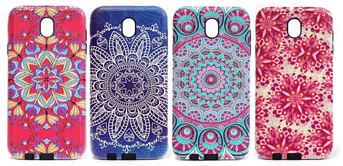 Funda Samsung J7 Pro Mandala Colores Anti Golpes Selfie 26000
