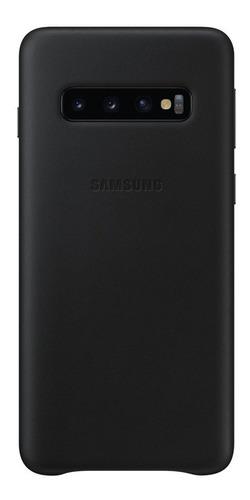 funda samsung leather cover - protective - s10 - black