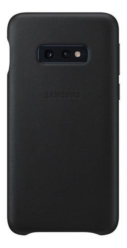 funda samsung leather cover - protective - s10e - black
