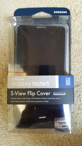 funda samsung s-view flip cover para note 5