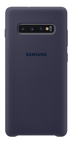funda samsung  silicone cover - protective - s10+ -navy blue