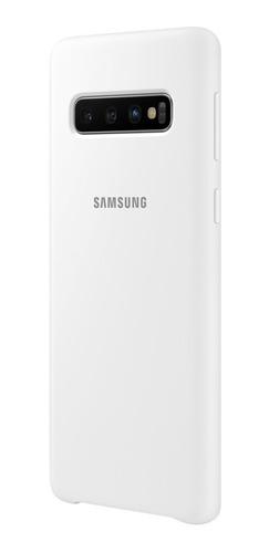 funda samsung silicone cover - protective - s10 - white