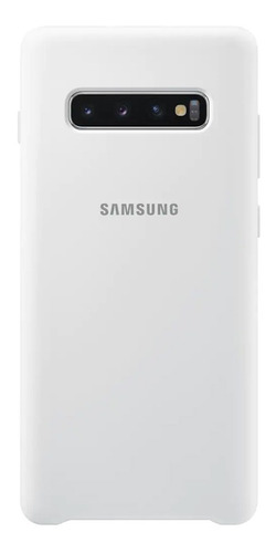 funda samsung silicone cover - protective - s10+ - white