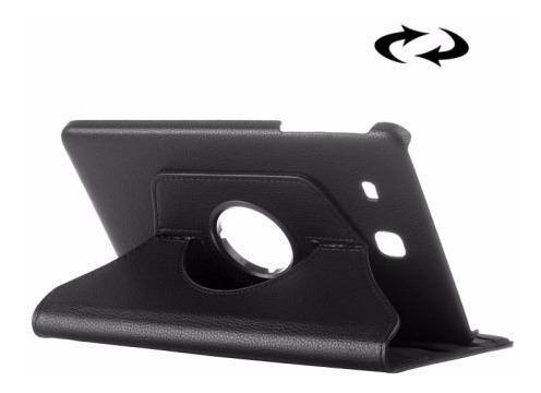 funda samsung tab e 8.0 t377 giratoria 360° cuero eco