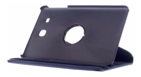 funda samsung tab e 9.6  giratoria 360° + templado