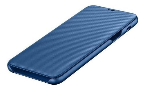 funda samsung wallet cover a6+ blue