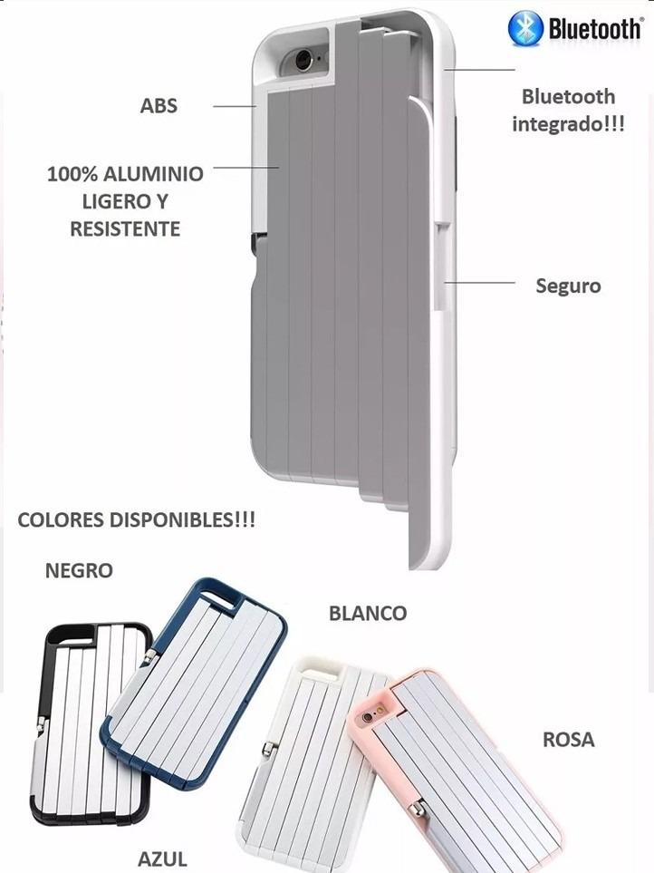 designer fashion d92de 3a53e Funda Selfie Stick Stikbox Case Bluetooth iPhone 5 Y 6