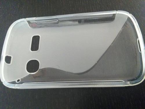 funda silicon alcatel one pop c3 4033 con mica antirayadura