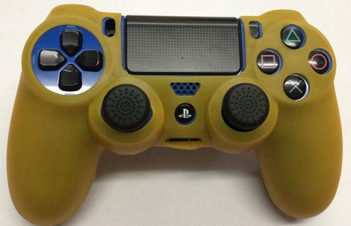 funda silicon amarillo+2 gomas control ps4 envio gratis