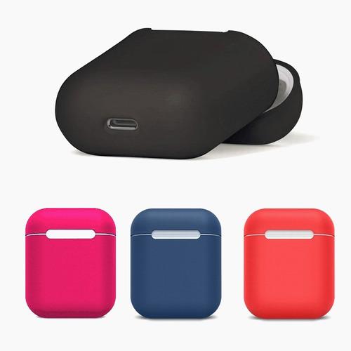 funda silicon suave tacto seda case airpods audífonos apple