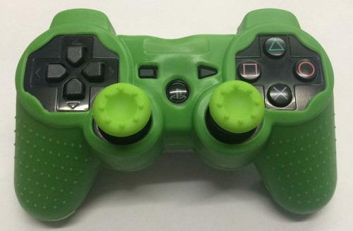 funda silicon verde +2 gomas verdes control ps3 envio gratis