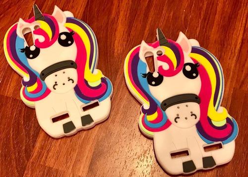 funda silicona animada unicornio multicolor lenovo vibe k5