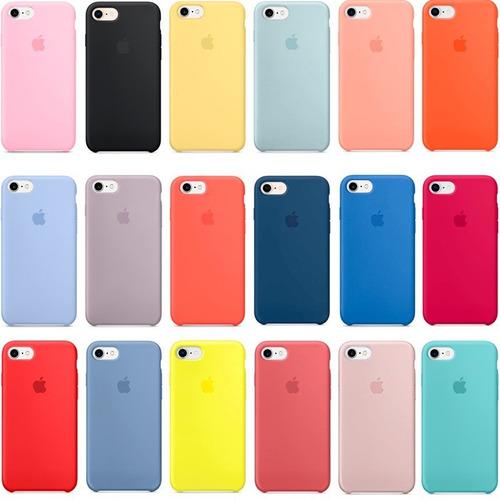funda silicona case iphone 8, x,  7,  7 plus 5 se + templado