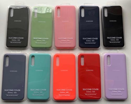 funda silicona case samsung a10 a20 a30 a40 a50 a70 m10 m20 m30 + glass recto 9h