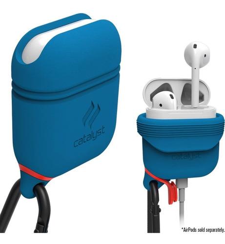funda  silicona catalyst apple airpods waterproof blue