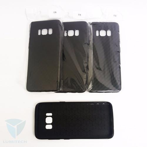 funda silicona flexible negra para samsung s8