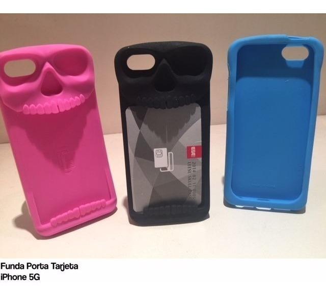 9e487d3077b Funda Silicona iPhone 5 5 Se 5 C Porta Tarjetero Muy Practi - $ 98 ...