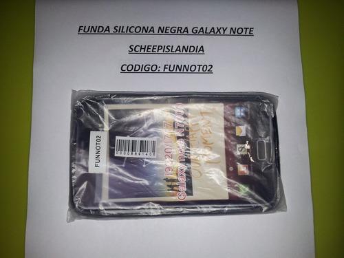 funda silicona negra galaxy note funnot02