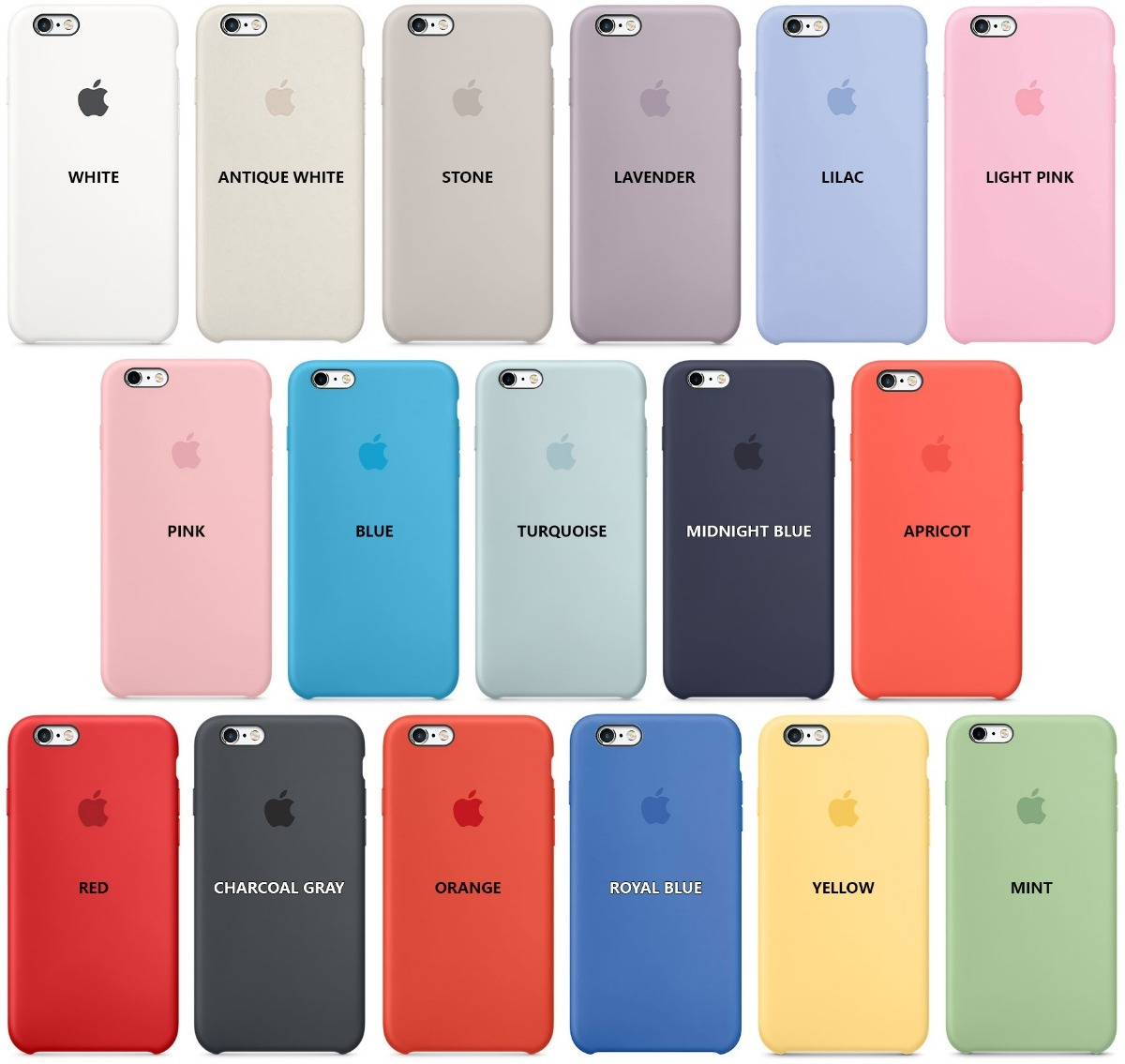 Funda Iphone 5 6 6s Plus Apple Original Silicona Soft Centro!