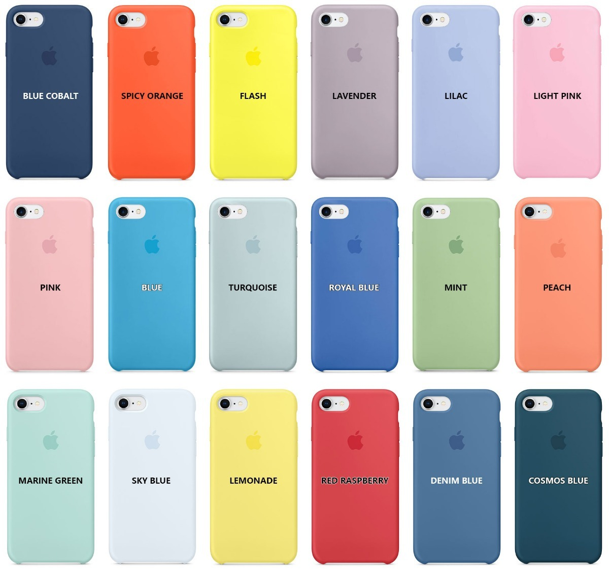 Funda silicone case original apple iphone 7 8 blue > Silicona
