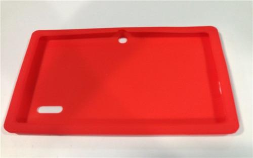 funda silicona tablet 7  goma antigolpe camara central titan belgrano