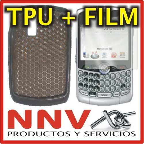 funda silicona tpu + film blackberry 8300 8310 8320 8330