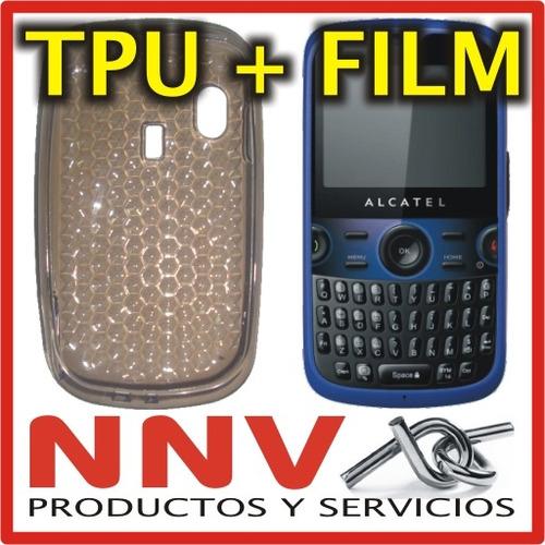 funda silicona tpu + film protector alcatel ot800 / ot802