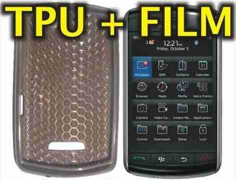 funda silicona tpu + film protector blackberry 9500 / 9530