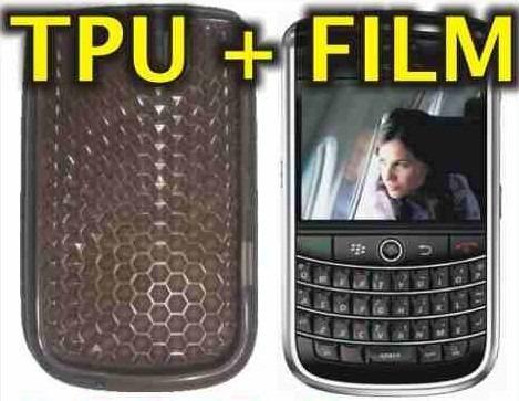 funda silicona tpu + film protector blackberry 9630 tour