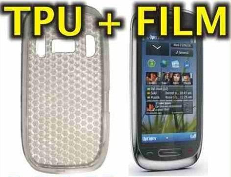 funda silicona tpu + film protector nokia c7 - nnv