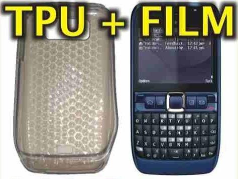 funda silicona tpu + film protector nokia e63 - nnv