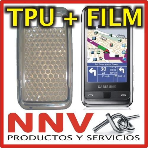 funda silicona tpu + film protector samsung i900 omnia - nnv