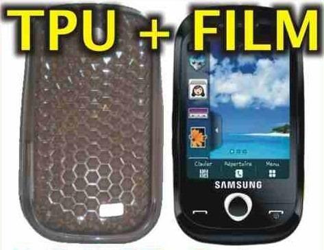 funda silicona tpu + film protector samsung s3650 corby -nnv