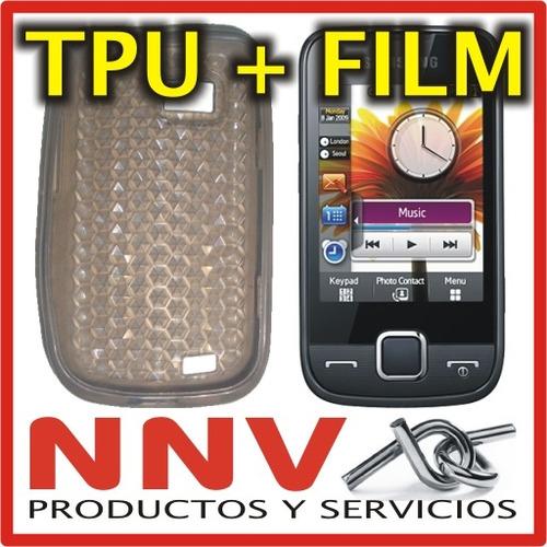 funda silicona tpu + film protector samsung s5600 - nnv