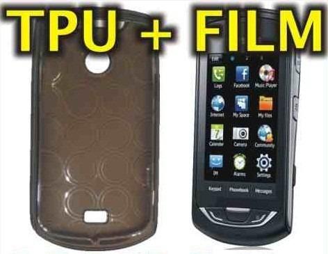 funda silicona tpu + film protector samsung s5620 monte -nnv