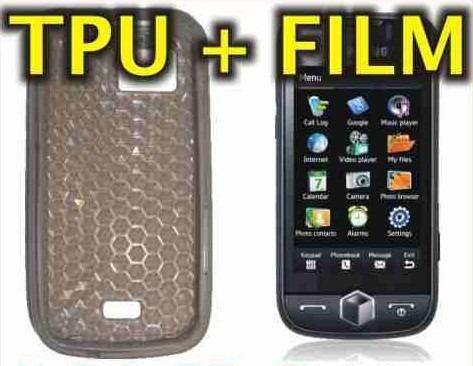 funda silicona tpu + film protector samsung s8000 jet - nnv