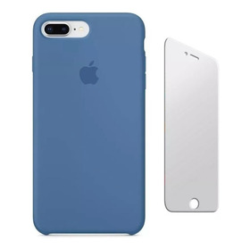 Funda Silicone Case iPhone 8 6s 7 Plus Se + Vidrio Templado