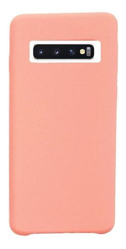 funda silicone case samsung s10 plus rosa