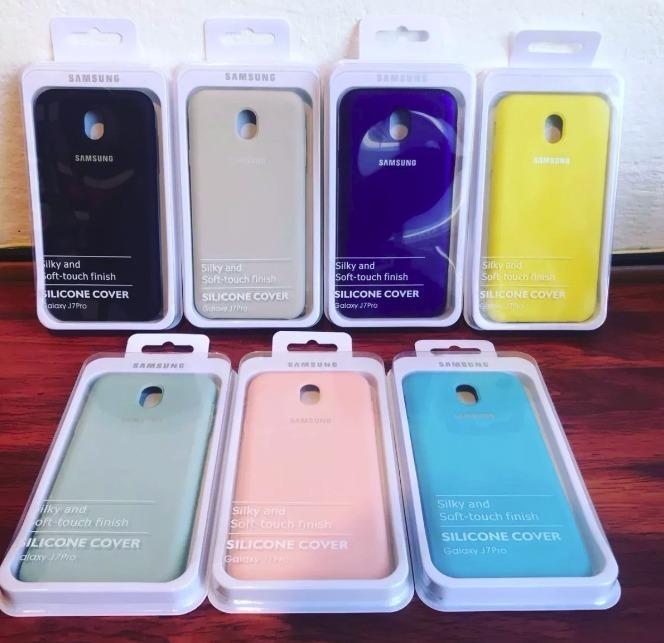 new arrival e24cd fc3af Funda Silicone Cover Samsung Galaxy J7 Pro Original Silicona