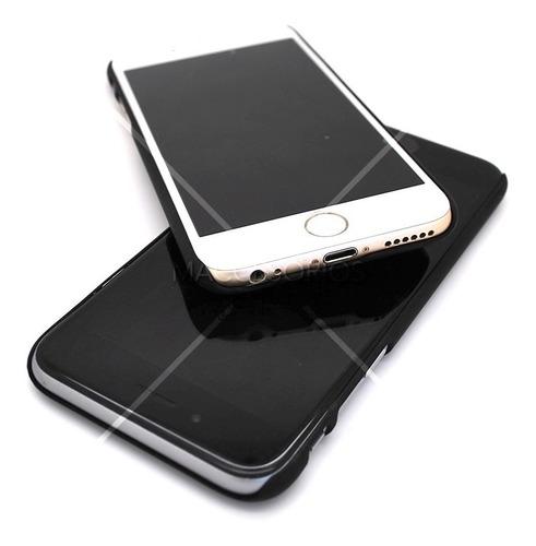 funda simil madera verde goma suave iphone 6 & 6s + vidrio