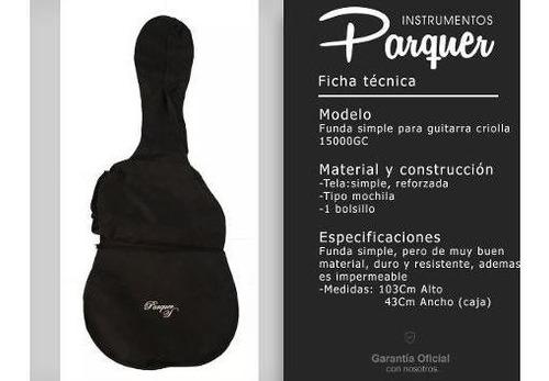 funda simple para guitarra criolla parquer tipo mochila